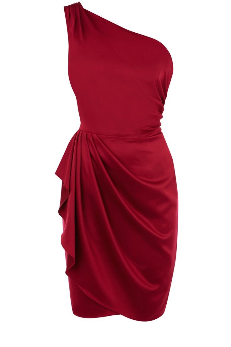 One Shoulder Drape Dress