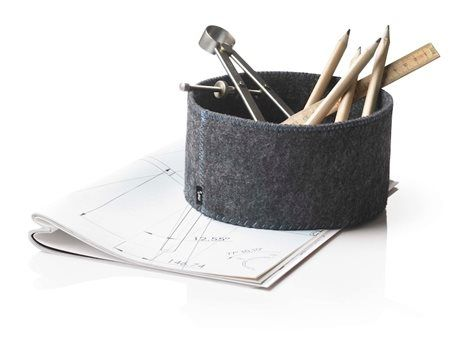 sewing inspiration-Felt Bread Basket