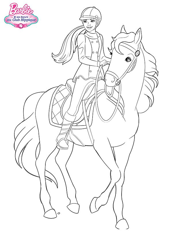 Pin By April On Coloring Pages Of Horses Pinterest Barbie