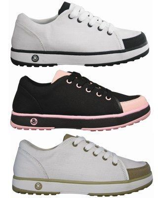 Women's Crossover golf shoe by Dawgs. Need to try a pair of these.