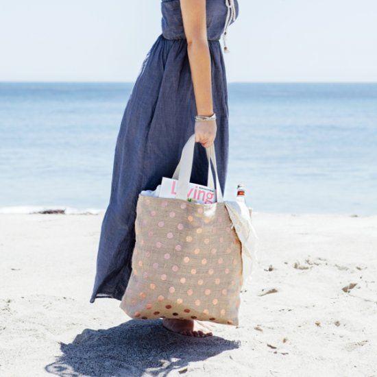 DIY Burlap Tote Bag