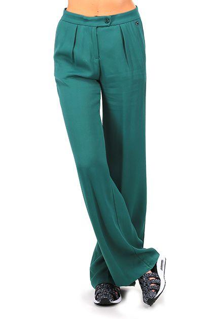 MANILA GRACE - Pantaloni - Abbigliamento - Pantaloni in viscosa modello a palazzo con elastico in vita con tasche laterali. - MD224 - € 198.00