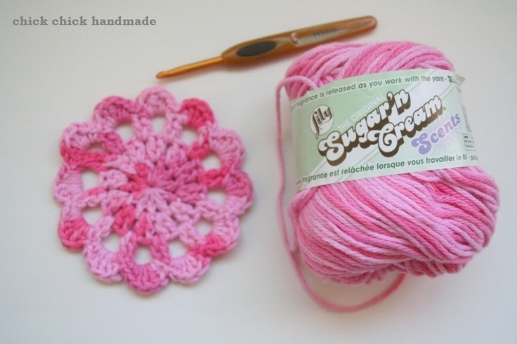 chick chick sewing: crochet doily