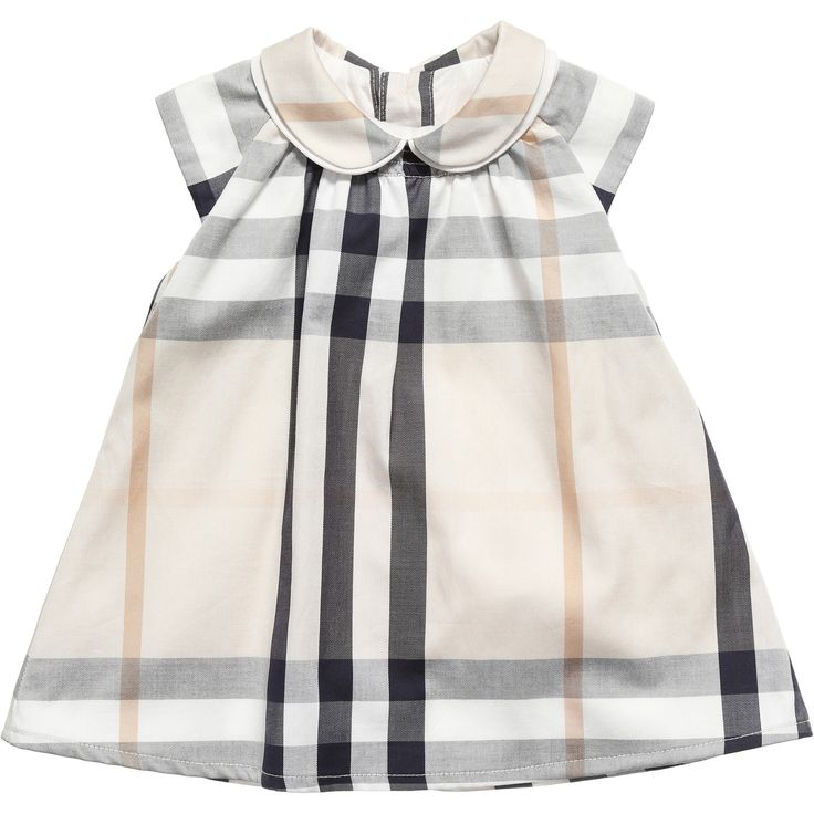Burberry Baby Cotton Check Beige Dress