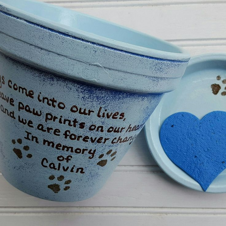 Personalized Pet Memorials in the colors and wording of your choice! Happymoosegardenart.etsy.com
