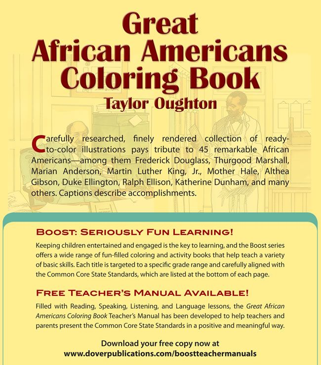 boost great african americans coloring book dover publications