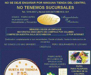 manualidadesyfantasias.com.mx: MANUALIDADES Y FANTASIAS Tel.: 5516-4937 y Nextel 4203-0470 MEXICO, D.F. MANUALIDADES ARTISTICAS, FABRICANTES DE ARTICULOS  PARA MANUALIDADES Y RECUERDOS, MINERVA DECORACION, BABY SHOWER,  FOMI, ARTESANIAS, BOLOS,  EVENTOS, CAJAS DE CARTON CORRUGADO, PAPEL PARA FILIGRANA, ROTULOS O LETREROS PARA  EVENTOS TALES COMO BODAS, BAUTIZO, 15, 25 Y 50 ANIVERSARIO, GRADUACION,  COMUNION, ETC.