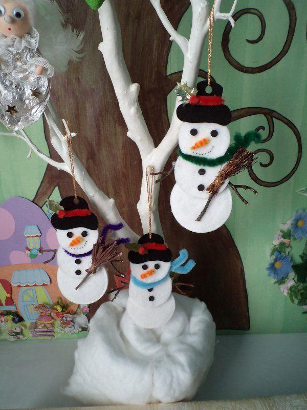 Des bonhommes de neige tout doux et des cartes