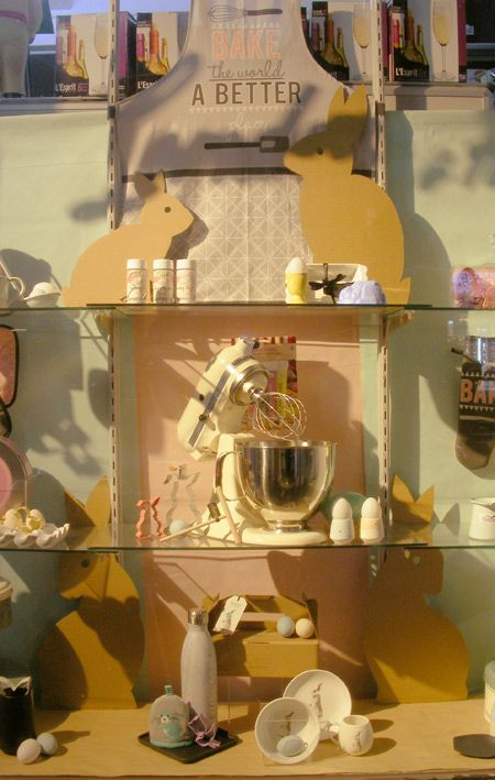 Easter Kitchenware window display for London and American Supply Stores, Melbourne Australia Display and image by Patricia Denis