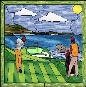16 Best Images About Stained Glass Golf Sports On