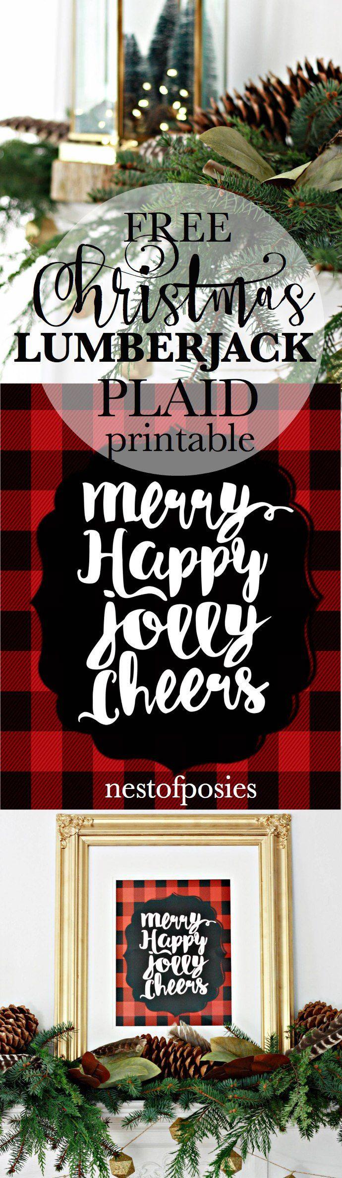 Free Christmas Lumberjack Plaid Printable in 8x10 or 11x14 downloads