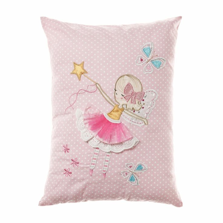 Little Freya Fairy adds a touch of magic and fun to this cushion from Adairs KidsÂ