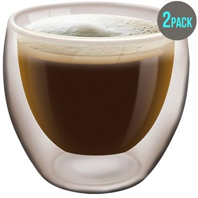 Double Wall Coffee Mugs 200Ml Ozsale Set Of 2 was $24.95 and is now $15.00 in our Contemporary Glassware sale.