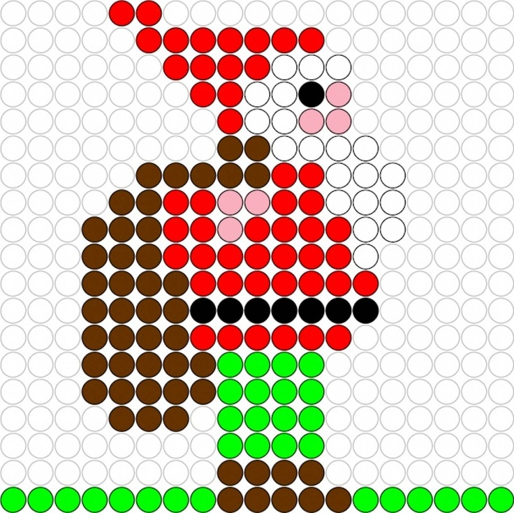 Gnome perler bead pattern