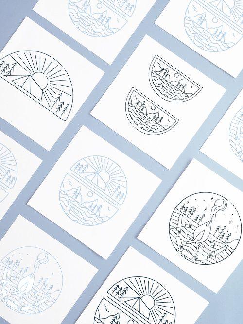 CAMP cafe illustrations by Cherie Allan - @designbycherie - cherieallan.design