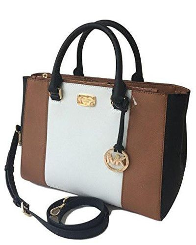 88d7df9f5bcf MICHAEL KORS WOMEN'S KELLEN MEDIUM SATCHEL LEATHER Shoulder Handbags ...