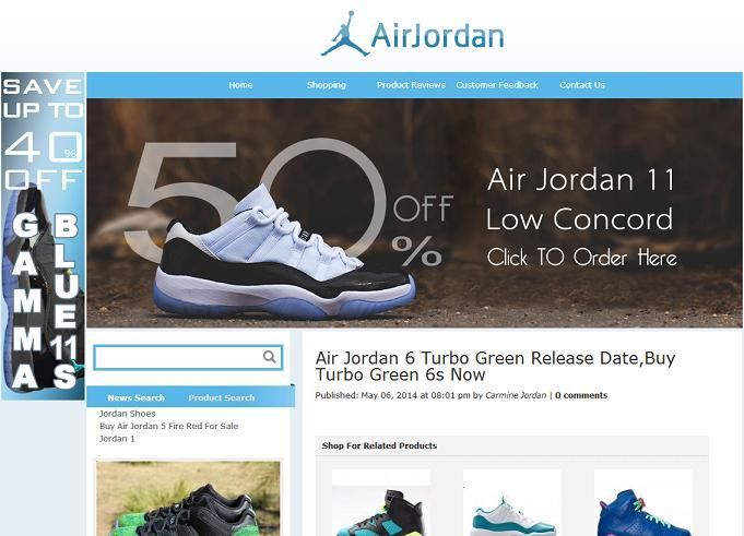 Is the Air Jordan Website www.airjordan6carmine2014 .com Legit or Fraudulent?: The Air Jordan website www.airjordan6carmine2014 .com is fraudulent or   a fake. What I found strange about this website is, for an e-commerce website, it doesn't provide a secure connection for their sensitive web pages, like the sign-in and registration pages that collect your personal and other sensitive information....