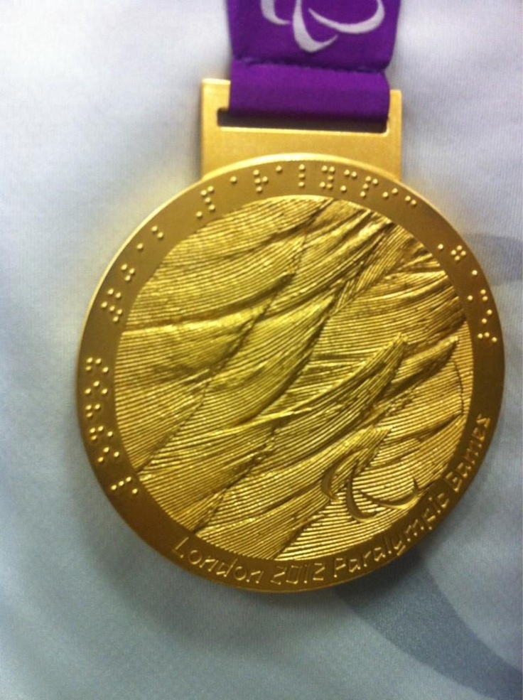 One of eight gold medals won by Team Ireland at the London 2012 Paralympic Games.