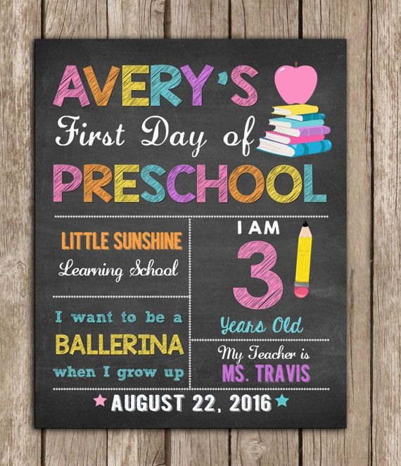 First Day of School Sign any grade Back to by TheLovelyDesigns