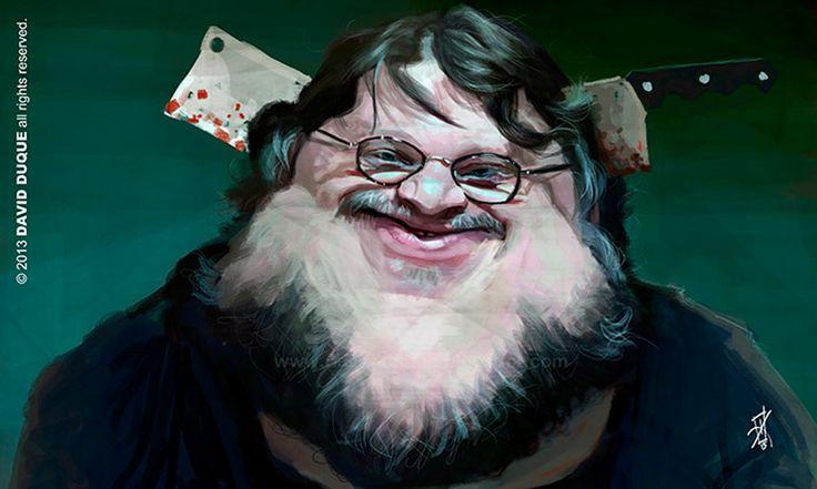 Caricatura de Guillermo del Toro.: Caracatures 3, Toro Artists, David Duque, William, William Bull, De David, Caricatures, Caricature, Artists David