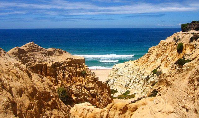 Praia da Galé, beach in Algarve, Portugal