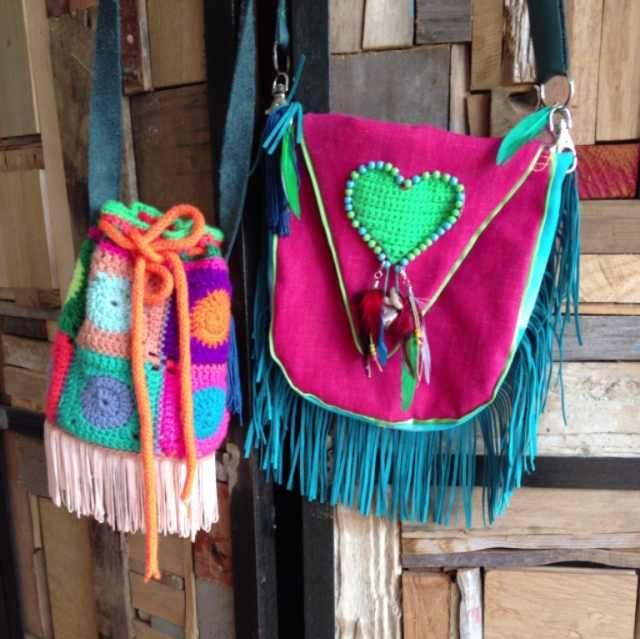 Ibiza style bag and crochet bag