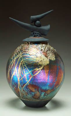 Raku Pottery Gallery by Steven Forbes deSoule-All of his pieces are unique and beautifully done! Check out more #Art & #Designs at: http://www.vektfxdesigns.com