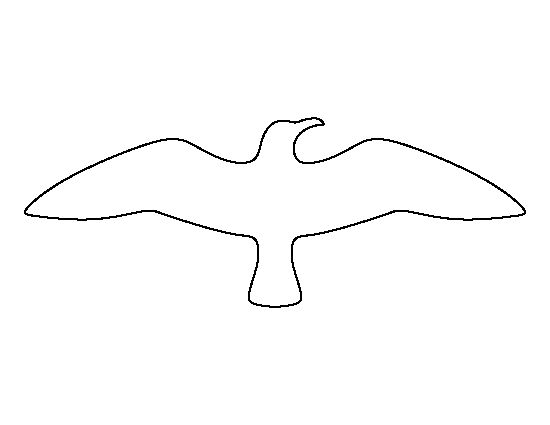 Flying seagull pattern. Use the printable outline for crafts, creating stencils, scrapbooking, and more. Free PDF template to download and print at http://patternuniverse.com/download/flying-seagull-pattern/