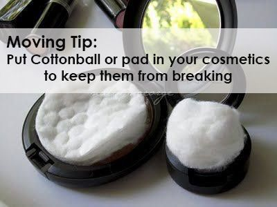 Moving tip picture of makeup with cotton pad in it