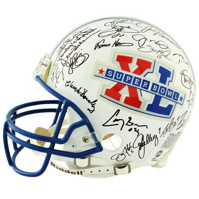 Fanatics Authentic Autographed Super Bowl XL 41 MVP's Riddell Pro Line Authentic Helmet