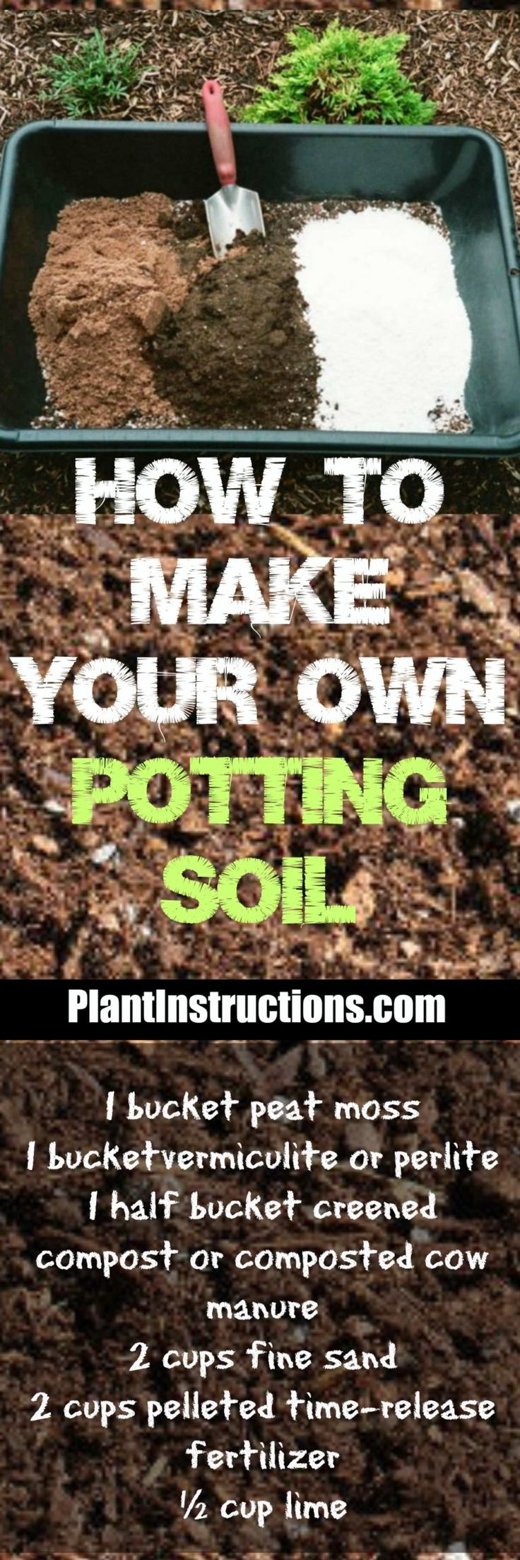 How to Make Potting Soil: DIY Potting Soil | Potting soil, Garden compost, Garden soil