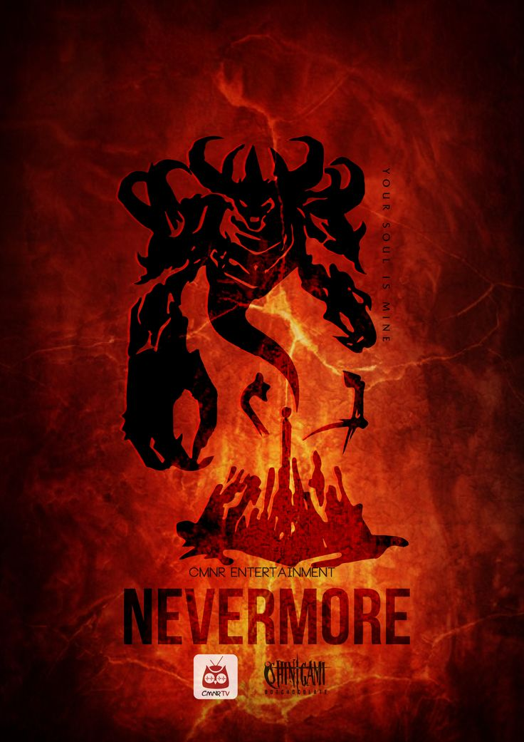 Nevermore Shadow Fiend - Long Shinigami - CMNR Dota Poster - Design by BotChocolate