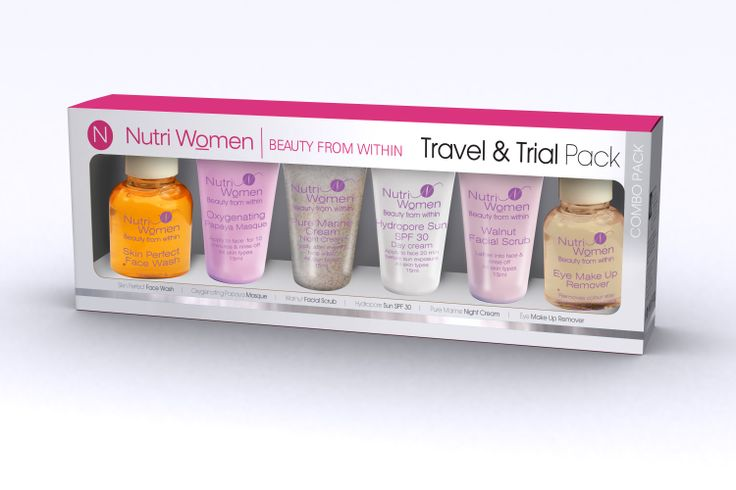 Nutriwomen travel and  trial sizes for women on the go. Especially good when space is an issue