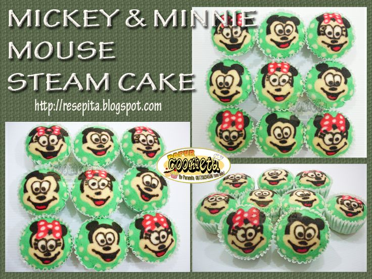 Mickey & Minnie Mouse Fancy Steam Cake