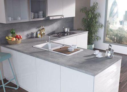 38mm Egger Boston Concrete Laminate Kitchen & Bathroom Worktops Breakfast Bar   #Topdoors #kitchens #kitchenworktops