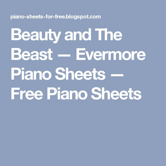 evermore piano sheet music pdf
