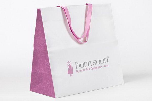 Фирменный стиль магазина для будущих мам Born soon