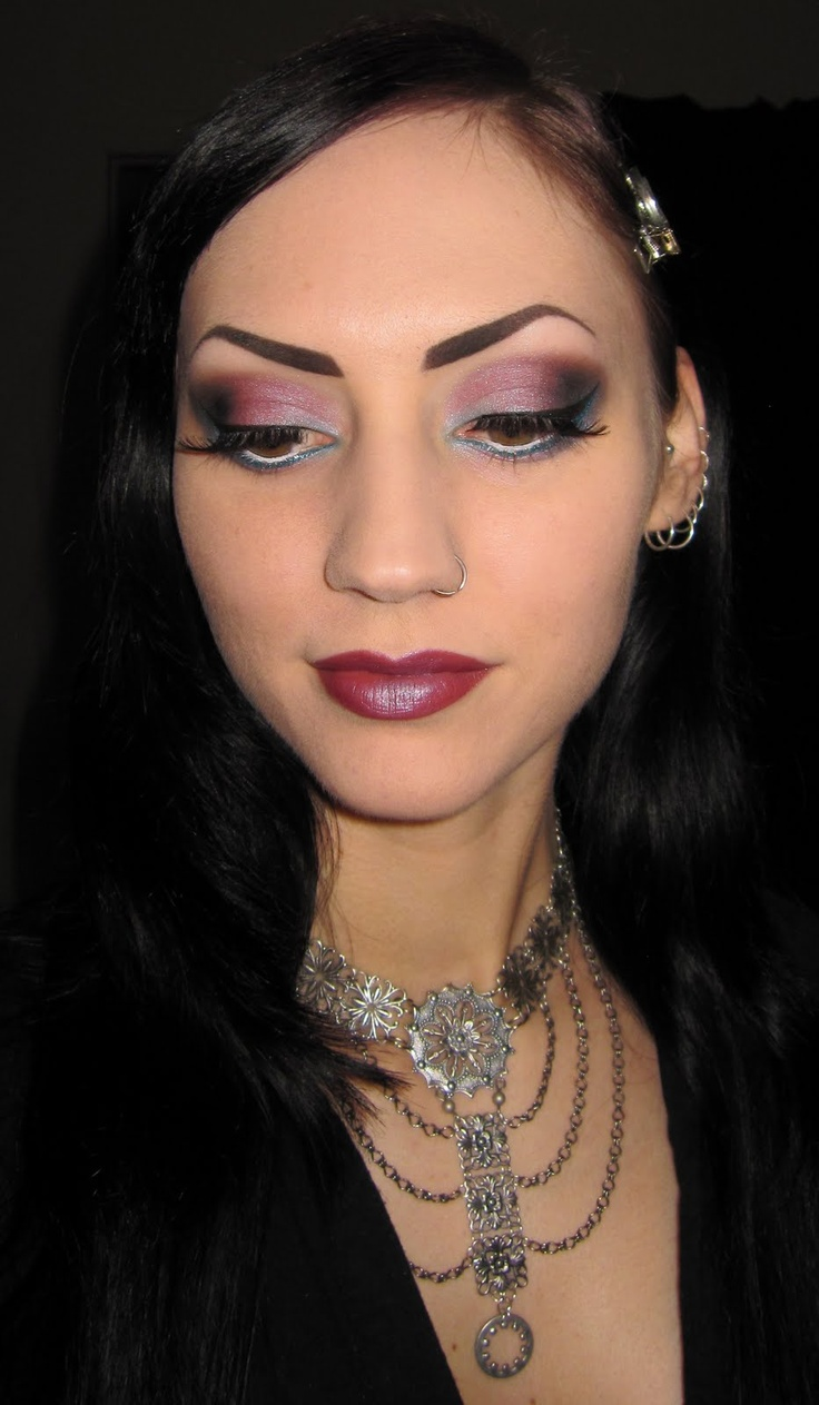 Glitter is my crack...: Blue and Purple/plum Glitter Makeup look with Morgana Cryptoria Shifty Eyed Collection