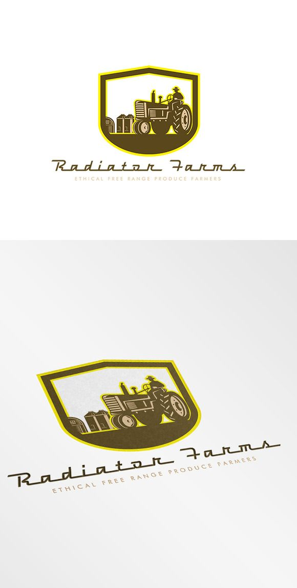 Radiator Farms Free Range Produce Lo by patrimonio on Creative Market