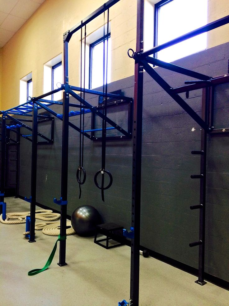 Custom wall fts pullup bracket system at green hills
