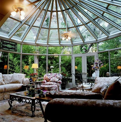 Perfect room for thunderstorm watching!  (Looks a lot like my Aunt's house.)
