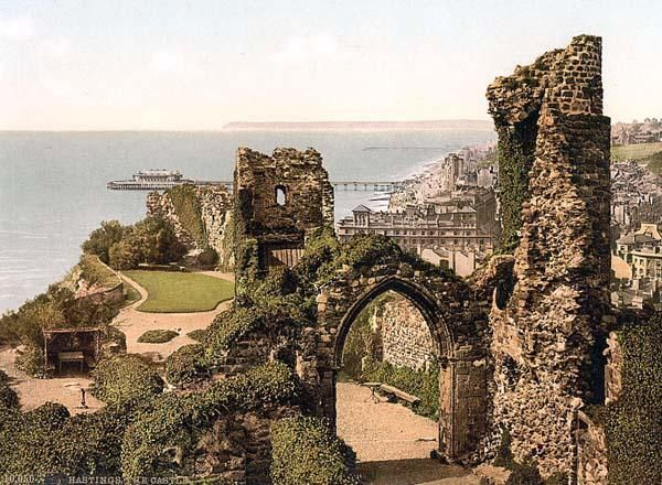 Hastings Castle. Hastings, England. Built in 1066 by William the Conqueror ./ qw