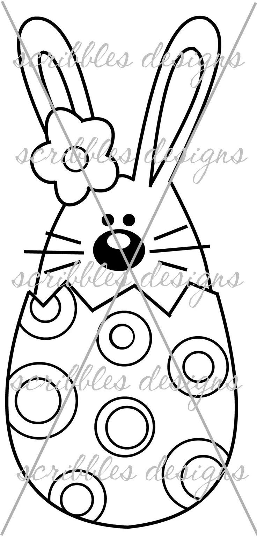 $3.00 Hoppy Egg 4 (http://buyscribblesdesigns.blogspot.ca/2014/03/423-hoppy-egg-4-300.html) #digital stamps #digis #bunny #Easter #egg #scribbles designs