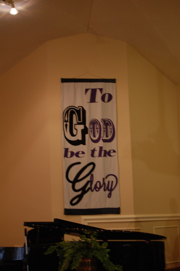Special Banner made for our church's 65th anniversary
