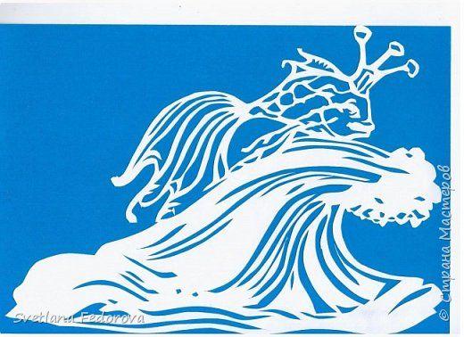 Картина панно рисунок Вырезание К произведениям А С Пушкина Бумага фото 3