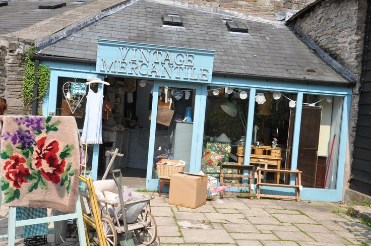 Vintage Mercantile, Backfold, Hay-on-Wye, UK. A mixture of textiles, furniture, lighting and Annie Sloan Chalk Paint™ stockist.