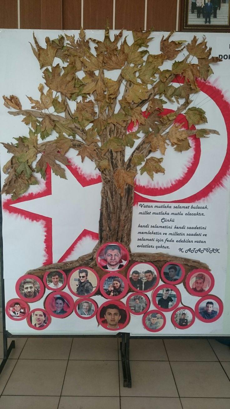 15 Temmuz demokrasi agacı   Bozüyük Saffet Seker Ortaokulu
