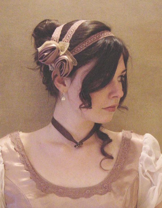 CUSTOM Regency Jane Austen 3 strap Headband hairpiece Ball hat headpiece FANCY