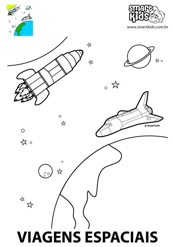 Colorir Desenho Viagens Espaciais