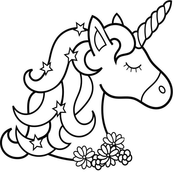 Unicorn Coloring Page Printable Unicorn Coloring Pages, Preschool Coloring  Pages, Coloring Pages